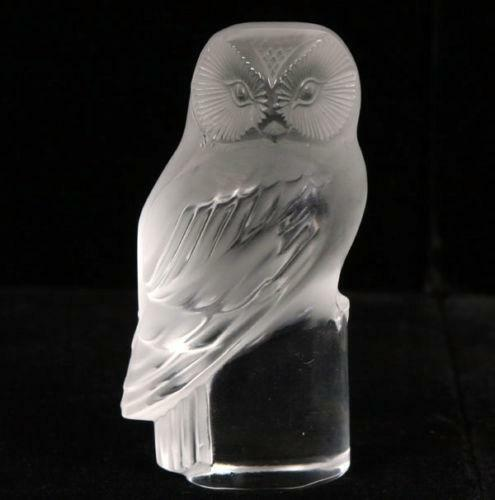 lalique owl paperweight