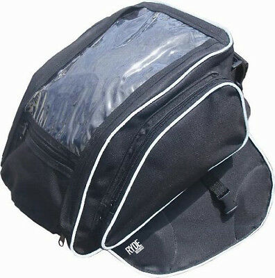 Ryde Motorcycle Magnetic Black Tank Bag Motorbike/Bike Luggage Pannier Phone Map