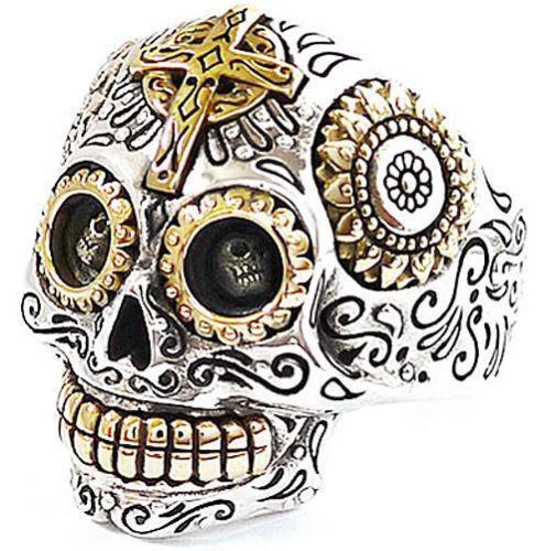 Mexican Skull Ring Ebay