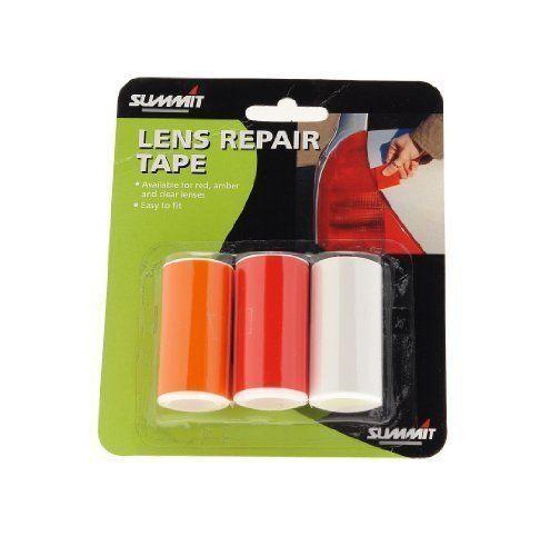 SUMMIT DIY Tail Light Unit Lens Rear Glass Indicator Red Amber Repair Tape Car