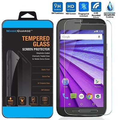 3rd Gen Screen Protector (Premium Tempered Glass Film Screen Protector for Motorola Moto G 3rd Gen)