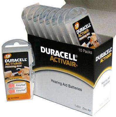 4 x  Pcs Duracell Activair Hearing Aid Batteries Size 13 Exp 08 2022 Power one ()