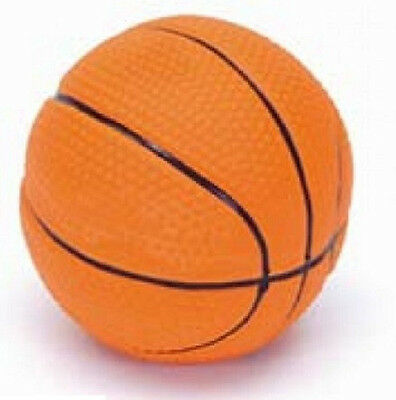 """COASTAL PET RASCALS 2.5"""" LATEX BASKETBALL DOG TOY SQUEAKER. FREE SHIP IN THE USA"""