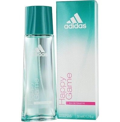 Adidas Happy Game 1 7 Oz 50 Ml Spray Women Eau De Toilette Edt Perfume New