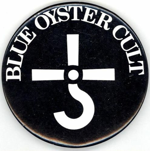 BLUE OYSTER CULT 1980 CULTOSAURUS ERECTUS TOUR ORIGINAL CONCERT BUTTON PIN
