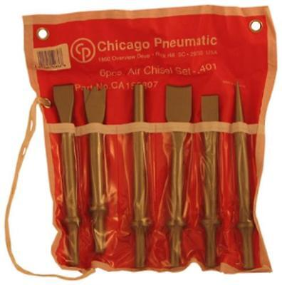6 Piece Air Chisel - Chicago Pneumatic CA155807 6 Piece Air Hammer Chisel Kit