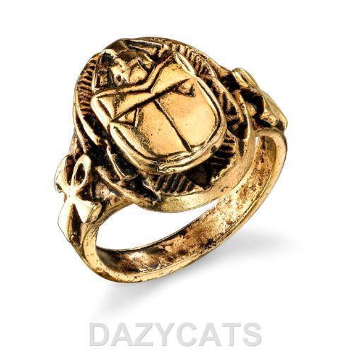 Mens Gold Scarab Ring