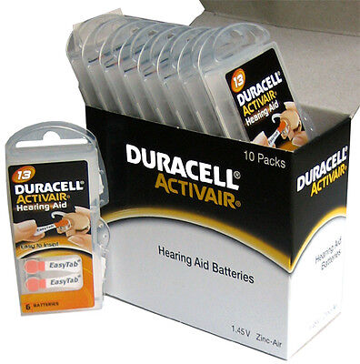 24 X Duracell Activair Hearing Aid Batteries Size 13