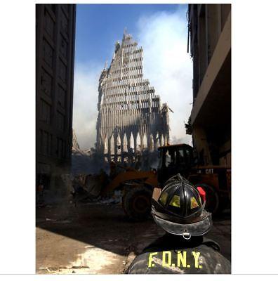9/11 Attacks World Trade Center Ruins PHOTO Fireman South Tower New York FDNY