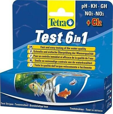 Tetra Test Strips 6 In 1 for Freshwater Aquariums Fish Tanks - 25 pack