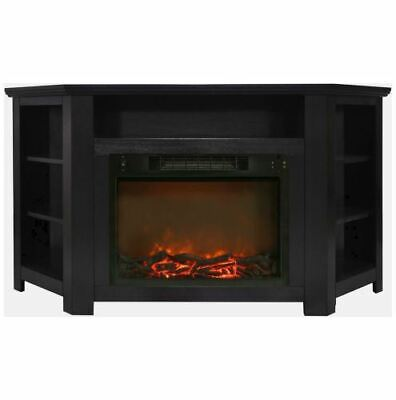 56 In. Electric Corner Fireplace with 1500W Fireplace Insert