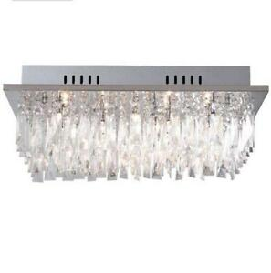 Crystal ceiling light lighting ebay crystal led ceiling light mozeypictures Choice Image