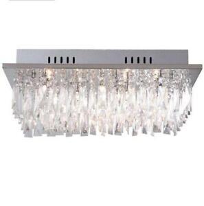 Crystal ceiling light lighting ebay crystal led ceiling light aloadofball Image collections
