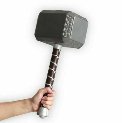 "1:1 Thor Hammer Replica Mjolnir Prop 17"" Long Foam Base for Avengers Cosplay Toy"