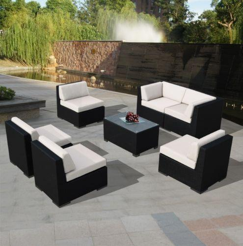 Resin wicker patio furniture ebay Plastic wicker patio furniture
