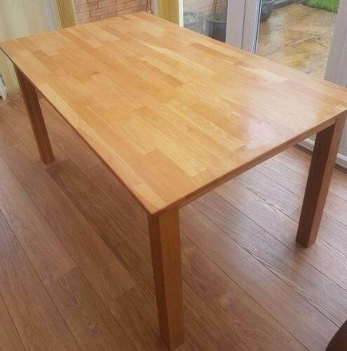 Solid Oak Dining Table 150cm FREE DELIVERY 091