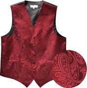 Burgundy Tuxedo Vest