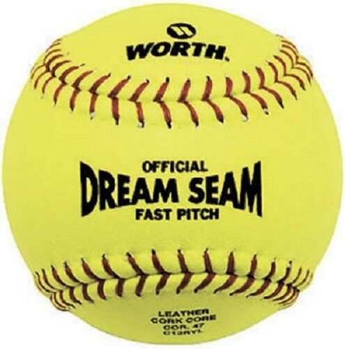 Rawlings Sporting Goods Official ASA Dream Seam Fast Pitch Softballs (One Dozen), Yellow, Size 12 C12RYLAH