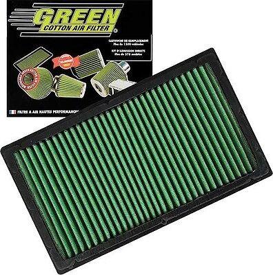 GREEN COTTON air panel filter vw T5 transporter camper Van performance induction - Green Panel Filter