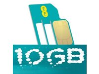EE 10GB data Promotional Sim works in all devices Free Sim Free post