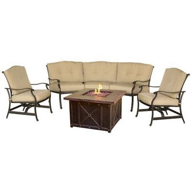 Traditions 4-Piece Conversation Set with 40 in. Durastone Fire Pit ()