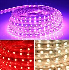 LED RGB Colour Changing Effects Strip Light Flat Rope Light Plug&Play Waterproof 240V