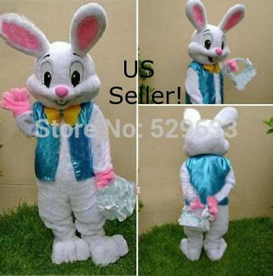 PROFESSIONAL Easter Bunny Mascot Costume Rabbit Cartoon Fancy Adult-US Seller for sale  Shipping to Ireland