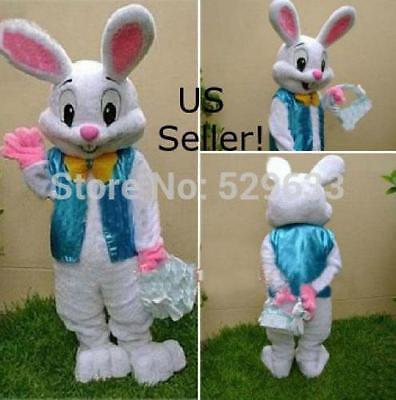 Profesional Conejo Pascua Disfraz de Mascota Dibujos Elegante Adult-Us Vendedor