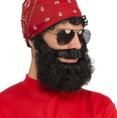 Adult Black Lumberjack Beard Costume - Halloween Lumberjack Beard