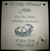1st Anniversary Personalised Card