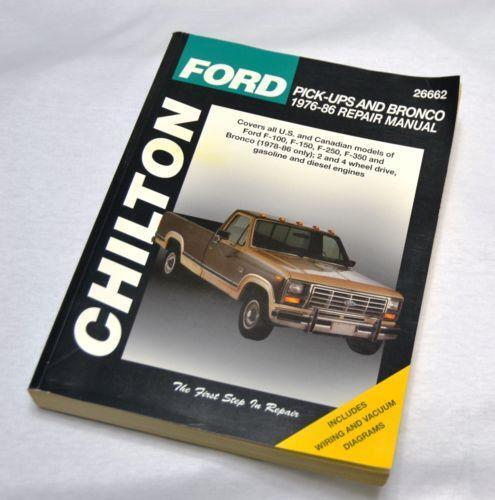 chilton repair manual ford ebay
