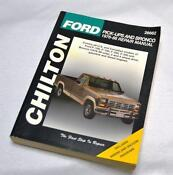 Chilton Repair Manual Ford