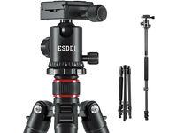 ESDDI Camera Tripod, 64 Inch Aluminum Tripod with Monopod 360 Degree Ball Head