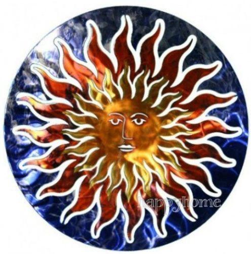 Outdoor metal sun ebay for Sun wall art