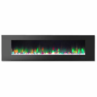 Cambridge CAM72WMEF-1BLK 72 In. Wall-Mount Electric Fireplac