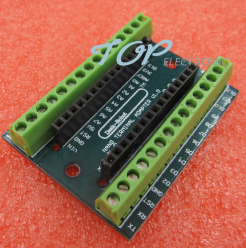 2PCS Nano Terminal Adapter for  Nano V3.0 AVR ATMEGA328P-AU Module Board M85