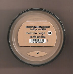 Bare Escentuals MEDIUM BEIGE original BareMinerals Foundation-N20 8g XL - NEW!
