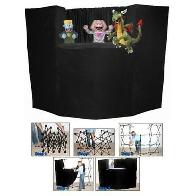 (PORTABLE FOLD UP PUPPET STAGE 8' THEATER WITH BAG BY PRESTO STAGE BRAND NEW)