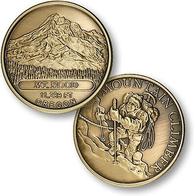 Mount Hood Climber Challenge Coin Bronze Mountain Mt Summit Climb Peak Oregon OR