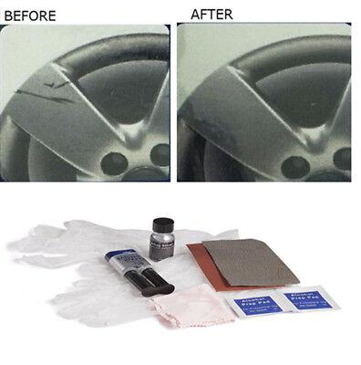 Car Wheel Rim Damage Scrapes Scuff Repair Stuff Fix Tool Kit Set Cleaning Cloth