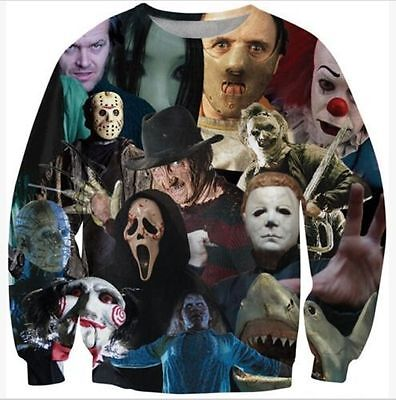 New Mens/Womens horror movie killers/Halloween 3D Print Sweatshirt Hoodies - Halloween Movie Hoodie