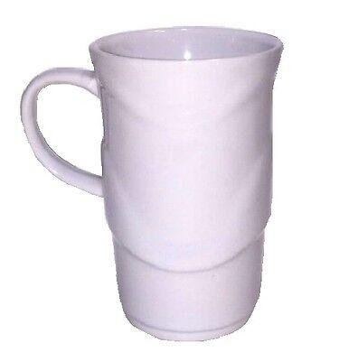 Plain Coffee Mugs (Home Office Tea Coffee CERAMIC Tall Mug Plain White Mugs w/ Handle BPA FREE)