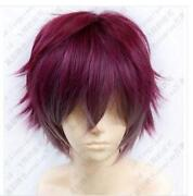 Short Red Cosplay Wig
