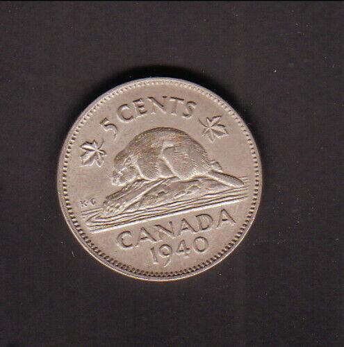 Canada--1940--5 Cents--Beaver