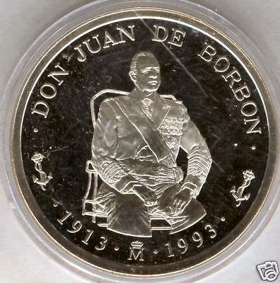 Don Juan De Bourbon (Don Juan de Borbon 5 Ecus 1993 plata @@ FDC @@)