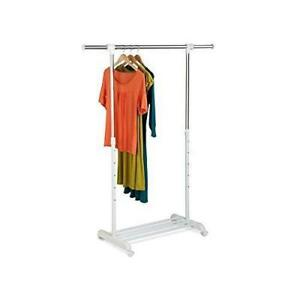 NEW Honey-Can-Do GAR-03265 Adjustable Expandable Garment Rack with Locking Wheels,