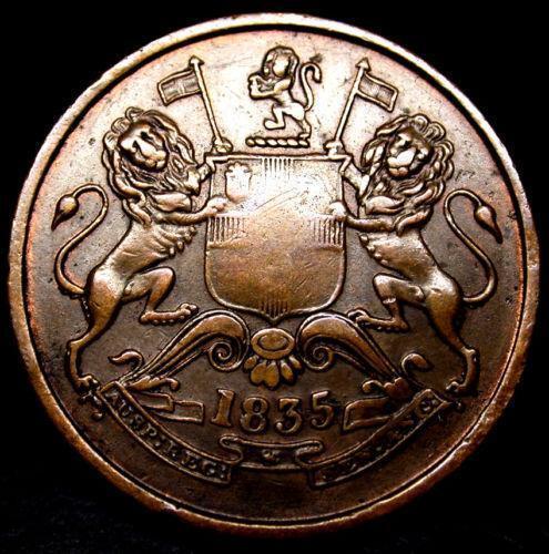 1835 Half Anna Asia Ebay
