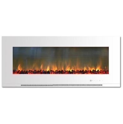 56 in wall mount electric fireplace in