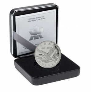 1987-1997 10th Anniversary Proof Silver $1 Flying Loon Dollar -