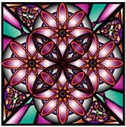 Stained Glass Window Flower